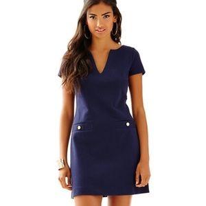 Lilly Pulitzer Layton Navy Long Sleeve VNeck Dress